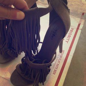 Size 7 fringe stilettos